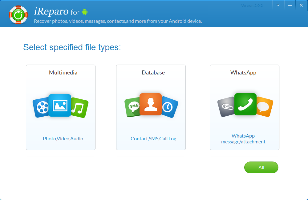 iReparo for Android, Android data recovery