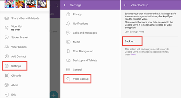 Restore Viber Messages from Backup on Android