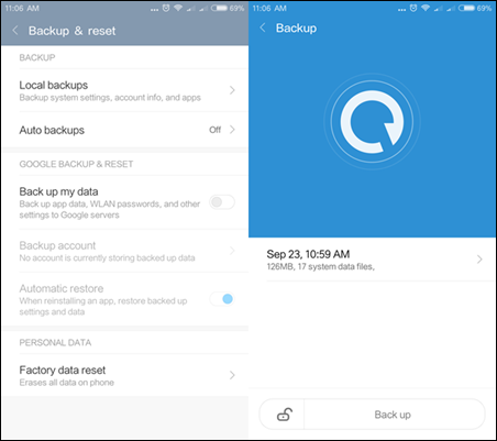 Back up and restore Android with Android Backup Service