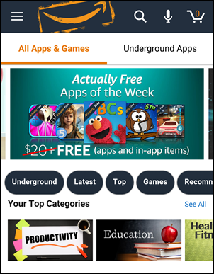Install Paid Apps and Games from Amazon Underground for Free