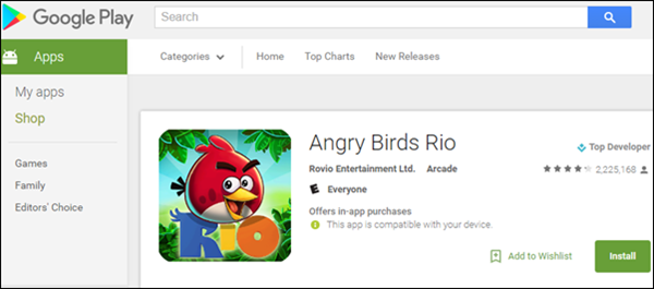 Install Android Apps and Games from Google Play