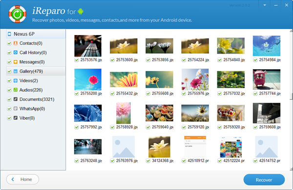 iReparo for Android is your best choice for Nexus data recovery.