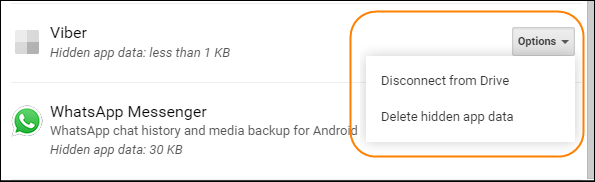 How to Delete WhatsApp/Viber App Backup Data from Google Drive