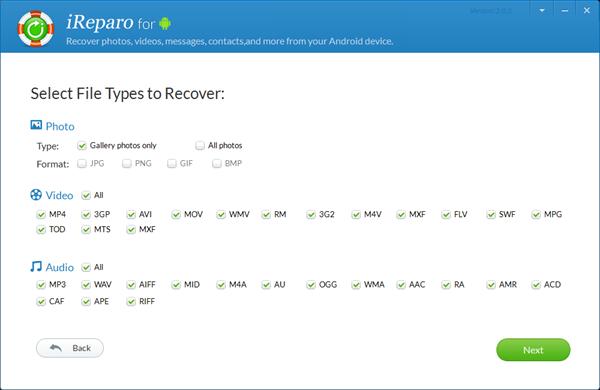 iReparo Android Data Recovery