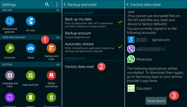 Reset Android Phone/Tablet to Factory Settings in Normal Way