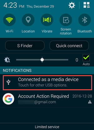 Connect Android to Computer as MTP to Fix Charging Only Problem