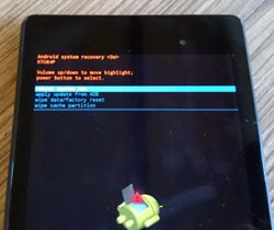Boot into Recovery Mode on Google Nexus