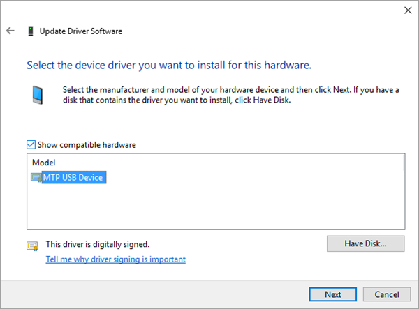 Install Proper Driver to Get Android Device