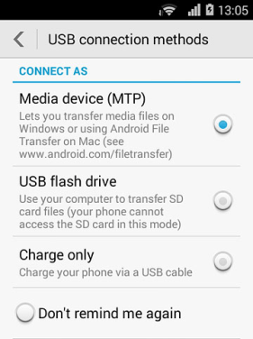 Load Android as MTP on Windows 10
