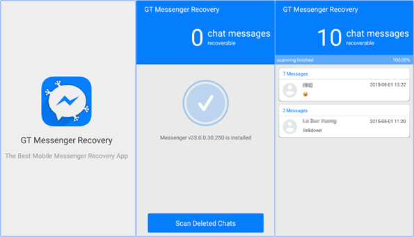 Recover Deleted Facebook Messages on Android without PC