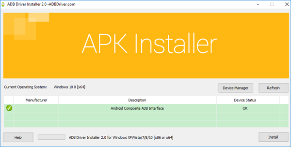 Install Universal Android ADB USB Driver for Windows
