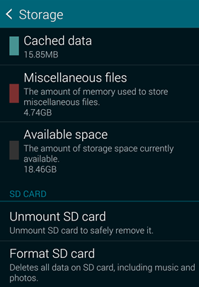 Unmount and remount SD card